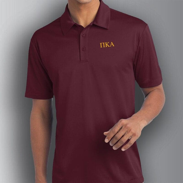 Clearance Priced! Pike Maroon Performance Polo