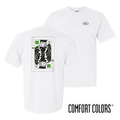 New! Pike Comfort Colors White Short Sleeve Clover Tee