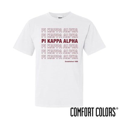 New! Pike Comfort Colors White Thank You Bag Tee