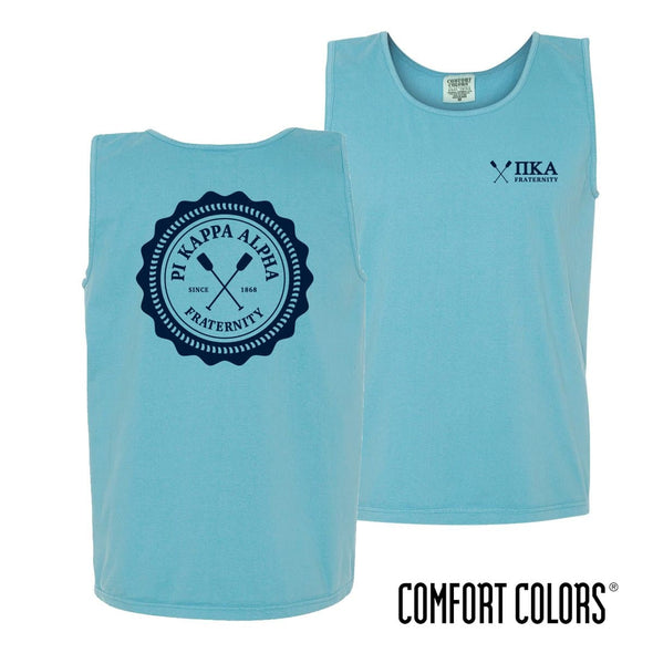 Pike Lagoon Blue Comfort Colors Pocket Tank