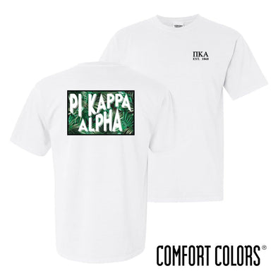 New! Pike Comfort Colors White Short Sleeve Jungle Tee