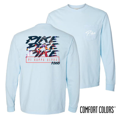 New! Pike Comfort Colors Chambray Long Sleeve Urban Tee