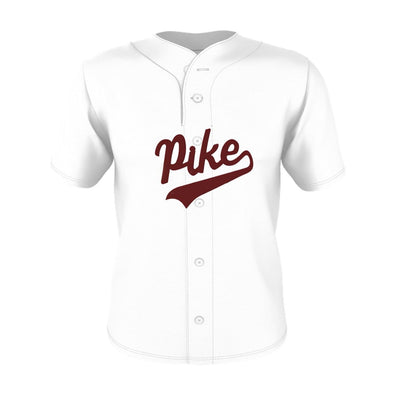 Pike White Mesh Baseball Jersey