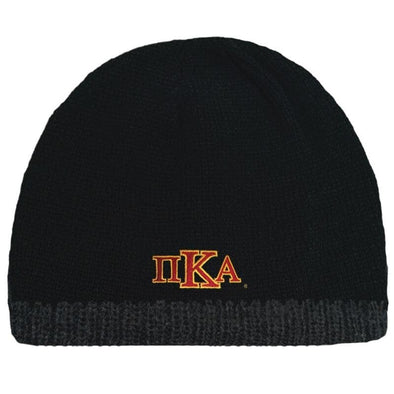 Sale! Pike Black Knit Beanie with Fleece Lining