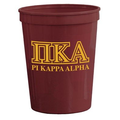 Pike Maroon Plastic Cup