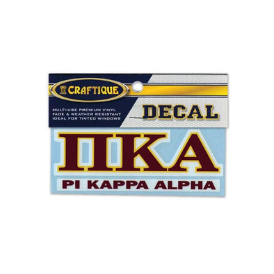 Pike Greek Letter Decal