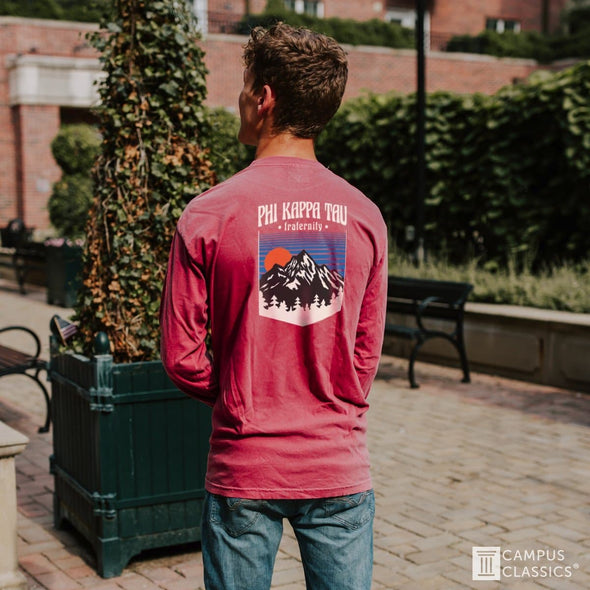 Phi Delt Comfort Colors Long Sleeve Retro Alpine Tee