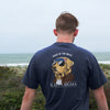 New! FIJI Comfort Colors Short Sleeve Navy Patriot Retriever Tee
