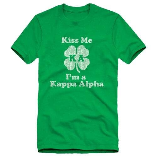 "Kappa Alpha Green ""Kiss Me"" Tee"