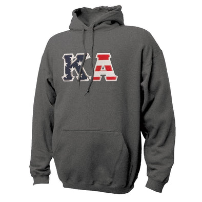 Kappa Alpha Stars & Stripes Sewn On Letter Hoodie