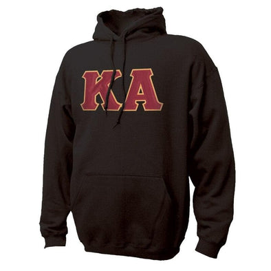 Kappa Alpha Black Hoodie with Sewn On Greek Letters