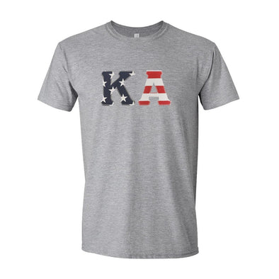 Kappa Alpha Stars & Stripes Sewn On Letter Tee