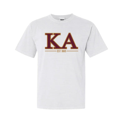 Kappa Alpha White Comfort Colors Greek Letter Tee