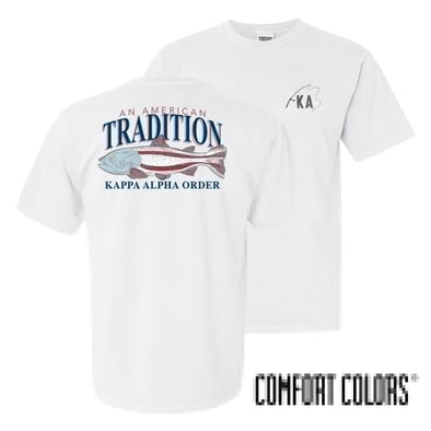 Kappa Alpha American Trout Comfort Colors Tee