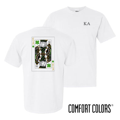 New! Kappa Alpha Comfort Colors White Short Sleeve Clover Tee