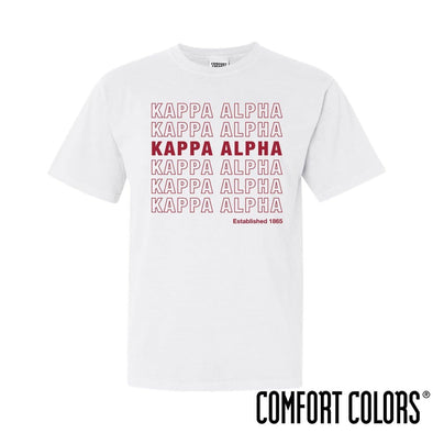Kappa Alpha Comfort Colors White Thank You Bag Tee