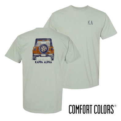 Kappa Alpha Comfort Colors Short Sleeve Jeep Tee