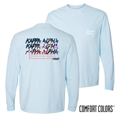 Kappa Alpha Comfort Colors Chambray Long Sleeve Urban Tee