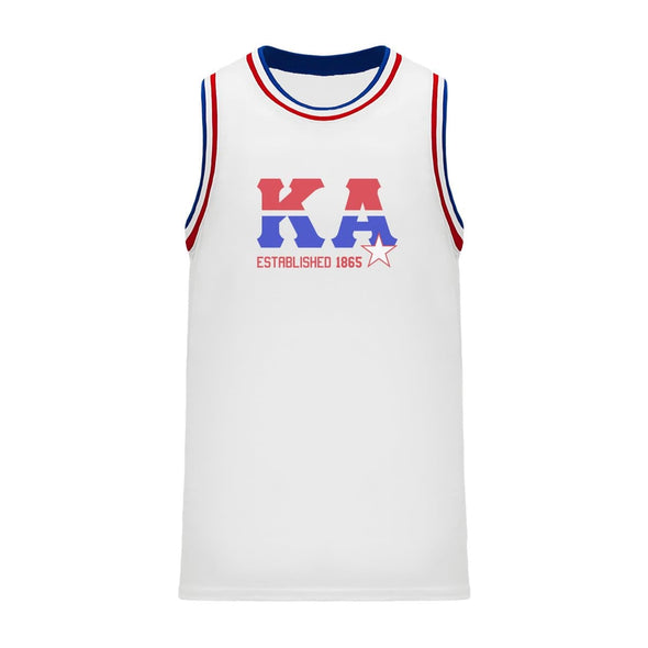 Kappa Alpha Retro Block Basketball Jersey