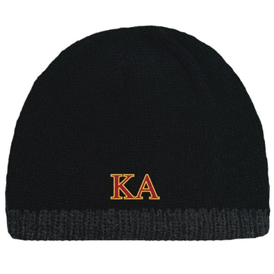 Sale! Kappa Alpha Black Knit Beanie with Fleece Lining