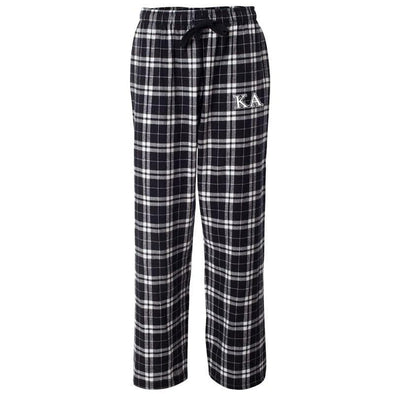 Kappa Alpha Black Plaid Flannel Pants