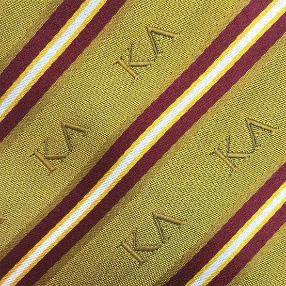 Sale! Kappa Alpha Gold and Cardinal Striped Silk Bow Tie