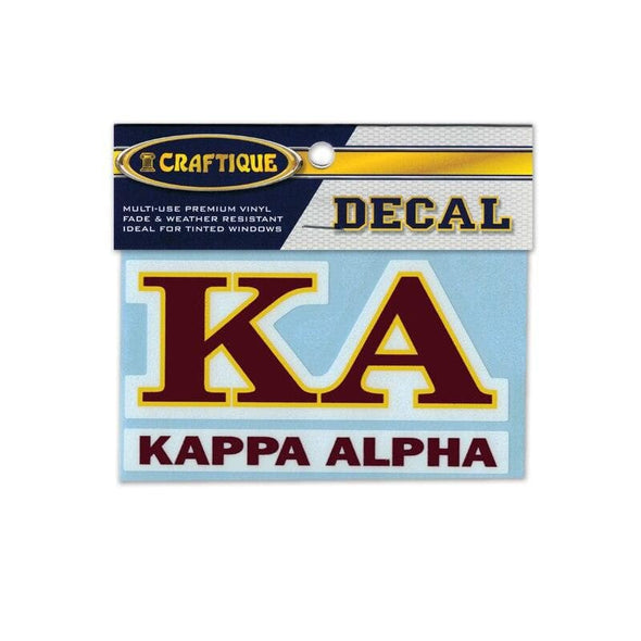 Kappa Alpha Greek Letter Decal