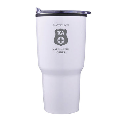 New! Kappa Alpha Personalized 30oz White Tumbler