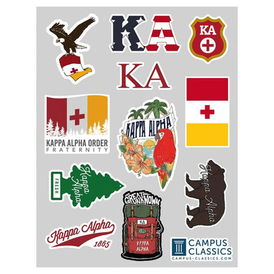 New! Kappa Alpha Sticker Sheet