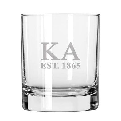 Kappa Alpha Engraved Glass