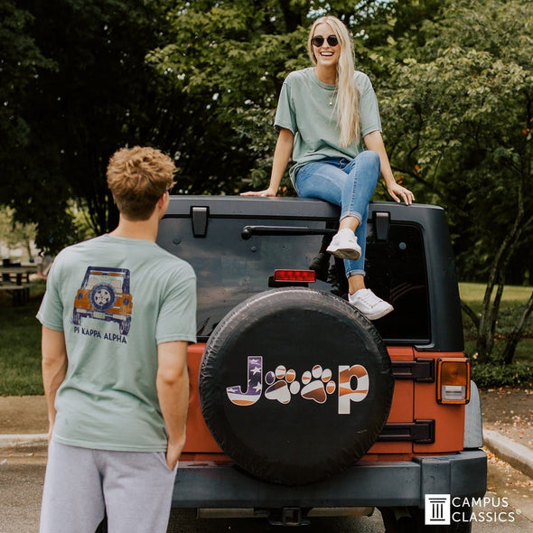 Chi Phi Comfort Colors Short Sleeve Jeep Tee