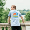FIJI Comfort Colors Chambray Short Sleeve Retro Ocean Tee