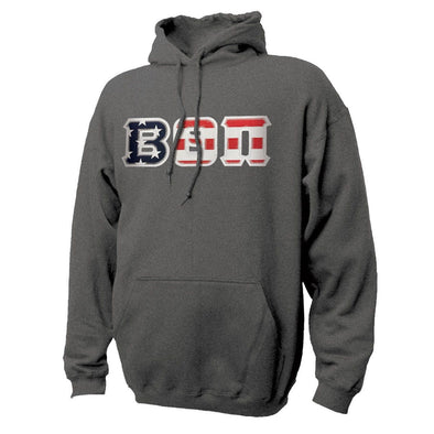 Beta Stars & Stripes Sewn On Letter Hoodie