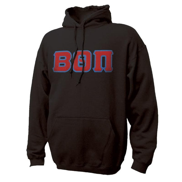 Beta Black Hoodie with Sewn On Greek Letters