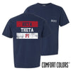 Beta Comfort Colors Red White and Navy Short Sleeve Tee