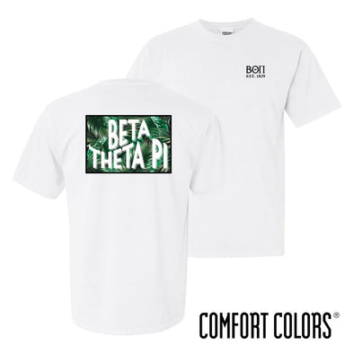 New! Beta Comfort Colors White Short Sleeve Jungle Tee
