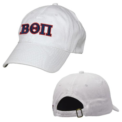 Beta White Greek Letter Adjustable Hat