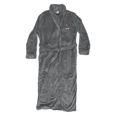 Beta Personalized Charcoal Ultra Soft Robe