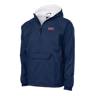 Beta Charles River Navy Classic 1/4 Zip Rain Jacket