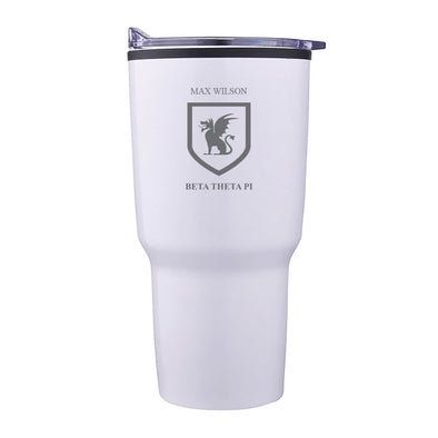 New! Beta Personalized 30oz White Tumbler