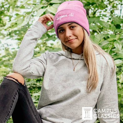 New! Sigma Nu Pink Sweetheart Beanie