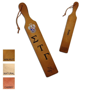 Sig Tau Personalized Traditional Paddle