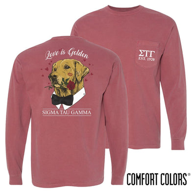 Sig Tau Comfort Colors Sweetheart Retriever Tee