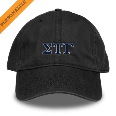 New! Sig Tau Personalized Black Hat by The Game