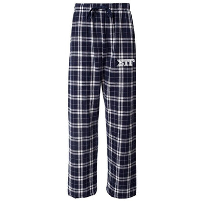 Sig Tau Navy Plaid Flannel Pants