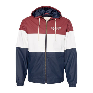 Sig Tau Color Block Rain Jacket