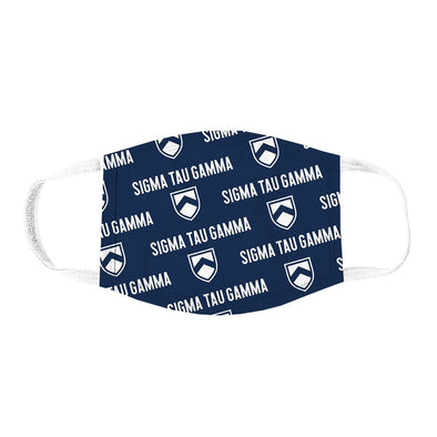 Sig Tau Patterned Face Mask