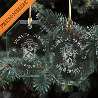 New! Sig Tau 2020 Personalized Limited Edition Holiday Ornament