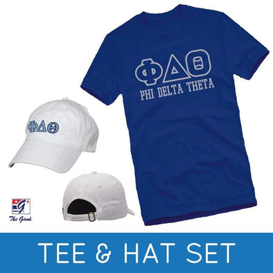 Sale! Phi Delt Tee & Hat Gift Set