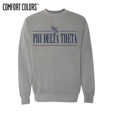 Phi Delt Gray Comfort Colors Crewneck